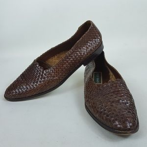 Cole Haan Womens 8.5 AA Brown Leather Slip-On